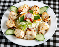 Seekh kebab with salad Royalty Free Stock Photography