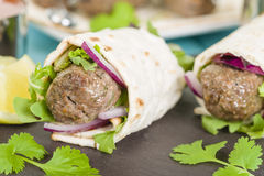 Seekh Kebab Wrap Royalty Free Stock Photos
