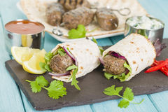 Seekh Kebab Wrap Stock Image