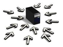 Seeking computer on network Stock Photos
