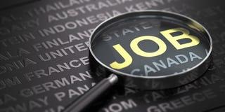 Seeking for an International Job Royalty Free Illustration