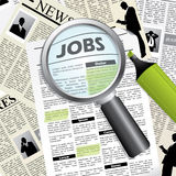 Seeking for a job Stock Images
