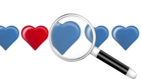 Seeking Magnifier for Heart stock video footage