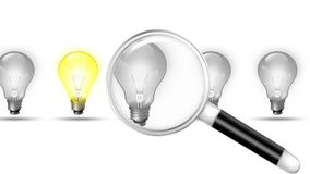 Seeking Magnifier for Lamp royalty free illustration