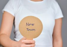 Seeking a new opportunity - enjoy a new  team stock photography