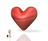 He is seeking tenderness. Royalty Free Stock Images