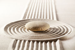 Seeking for zen steadiness with sand design Stock Image