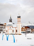 The Seekirchl in Seefeld, Austria Stock Images
