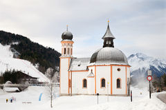 Seekirchlen i Seefeld Royaltyfri Foto