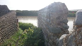 Seelöwe ruiniertes Dorf die leere Stadt des Operationsseelöwen stockfoto