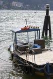 Seelandschaft, Boot auf dem Wasser lizenzfreie stockfotografie