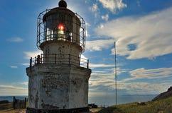 Seelandschaft mit einem Leuchtturm. Stockfotos