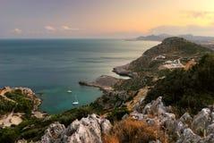Seelandschaft mit Yachten Lizenzfreies Stockbild