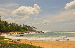 Seelandschaft in Tangalla (Südsri lanka) Stockfotos