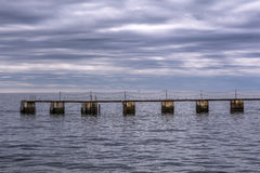 Seelandschaft, Tramonto-sul Stute Lizenzfreie Stockbilder