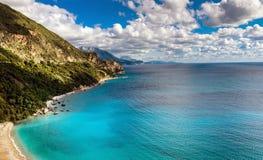Seelandschaft von Budva Riviera in Montenegro Stockfoto