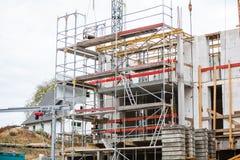 Seelbach, Bade-Wurtemberg, BW/Allemagne - 31 octobre 2018 : Le progrès est accompli par les travailleurs de la construction sur l photo libre de droits