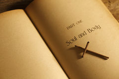 Seele und Rohpapier Bild Lizenzfreie Stockfotografie