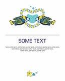 Seeliebes-Vektorillustration mit Fischen Stockfotos