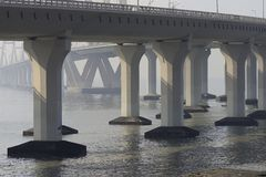 Seelink-Brücken-Hängebrücke Stockbilder