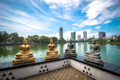 Seema Malaka寺庙在科伦坡 库存照片