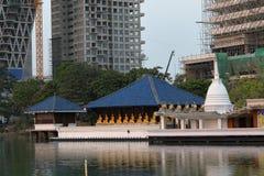 科伦坡Seema Malaka寺庙在斯里兰卡 库存照片