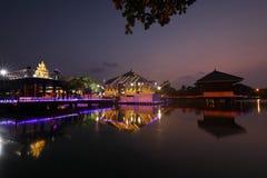 科伦坡Seema Malaka寺庙在斯里兰卡 免版税图库摄影