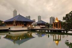 Seema Malaka Temple av Colombo i Sri Lanka fotografering för bildbyråer