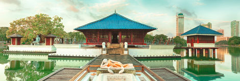 Seema Malaka temple. Panorama Royalty Free Stock Image