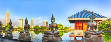 Seema Malaka temple. Panorama Royalty Free Stock Photo
