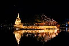 Seemamalakaya en el lago beira, Colombo Fotos de archivo