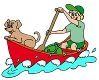 Seemann auf Fluss Stockbilder