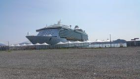 Seemann am Hafen von Yeosu Stockbild