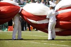 Seemann und amerikanische Flagge Lizenzfreies Stockbild