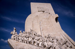 Seemann- und Forscherdenkmal in Lissabon, Portugal stockfotos