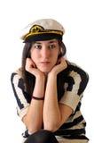 Seemannmädchen durchdacht Stockbild