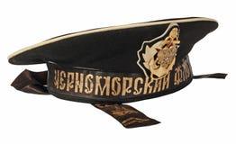 Seemannschutzkappe getrennt auf einem weißen Hintergrund Stockfotografie