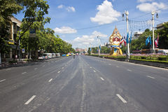 Seemingly empty street Stock Image
