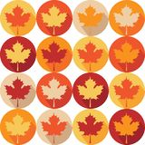 Seemless Pattern with Autumn Maple Leaves stock illustration