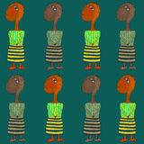 Seemless pattern of children Royalty Free Stock Photo