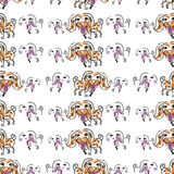 Seemless pattern of doodle dog Royalty Free Stock Photography