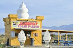 Worlds Tallest Ice Cream Stand in Pahump, Nevada, USA Stock Photography