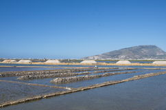 Salt mines, Trapani, Sicily Stock Images