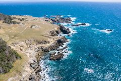 Aerial View of Scenic Northern California Coastline royalty free stock image