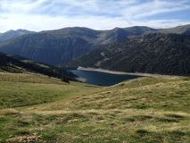 Seen de three lakes in the reserve of high pyrenees neouvielle France, its mountains stock image