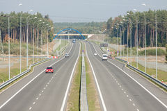 Seen from the highway overpass Stock Photography