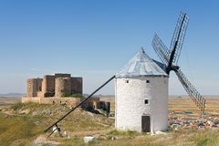Seen from the mills Consuegra Stock Photo