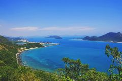Beautiful scenery of gulf of Thailand royalty free stock image