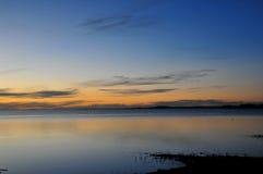 Seen und Wolken Stockfoto