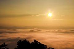 Seenebel, Nan-Provinzen - Nan Thailand Stockfotos